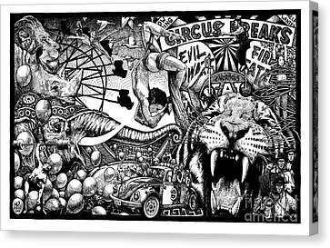 Circus Breaks Canvas Print by Matthew Ridgway