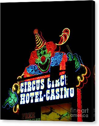 Circus Circus Sign Vegas Canvas Print by John Malone