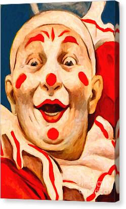 Circus Clown - 2012-1230 - Painterly Canvas Print by Wingsdomain Art and Photography