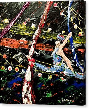 Cirque Du Soleil Silks Canvas Print by Mark Moore