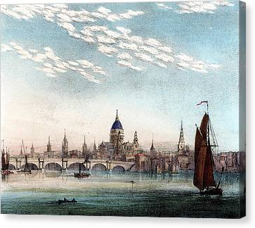 Cirro-cumulus Cloud In Summer Canvas Print by Universal History Archive/uig