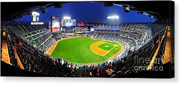 Citi Field And The New York Mets Canvas Print by Nishanth Gopinathan