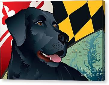 Maryland Black Lab Canvas Print by Joe Barsin