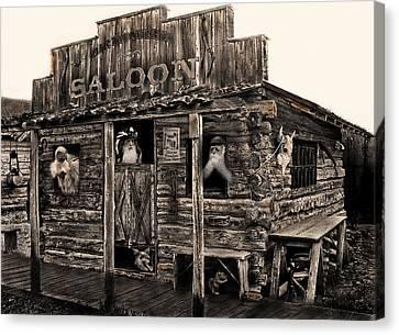 Citizens Of Dirty Creek Canvas Print by Terril Heilman