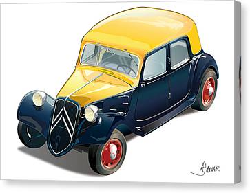 Citroen On White Canvas Print by Alain Jamar