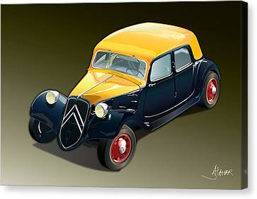 Citroen Traction Avant Canvas Print by Alain Jamar