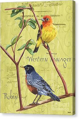 Citron Songbirds 2 Canvas Print by Debbie DeWitt
