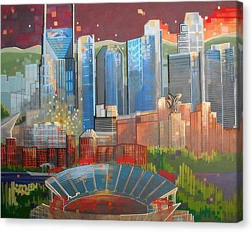 City 47 Music City Canvas Print by Carol Joy Shannon