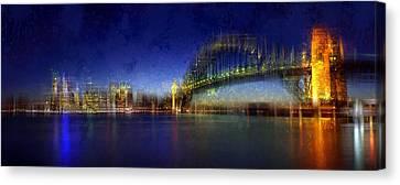 City-art Sydney Canvas Print by Melanie Viola