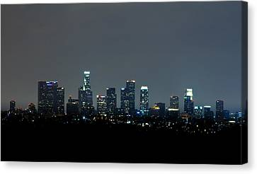 City At Night Canvas Print by Andrew Raby