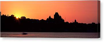 City At Sunset, Chateau Frontenac Canvas Print by Panoramic Images
