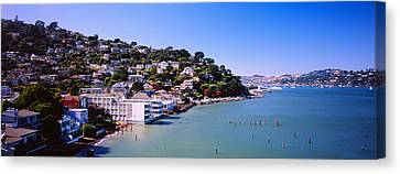 City At The Coast, Sausalito, Marin Canvas Print by Panoramic Images
