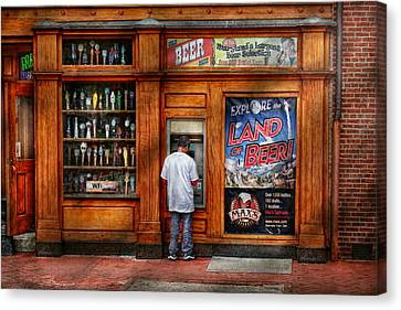 City - Baltimore Md - Explore The Land Of Beer  Canvas Print by Mike Savad