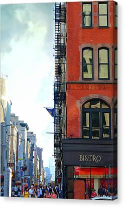 City Bistro Canvas Print by Laura Fasulo