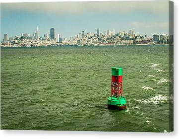 City By The Bay Canvas Print by Ken Kobe