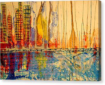 City By The Sea Canvas Print by Giorgio Tuscani