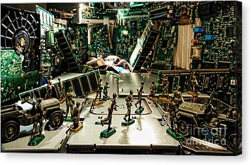 City Cyber Attack  Canvas Print by Olivier Le Queinec