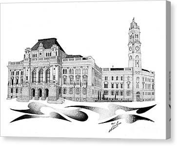 City Hall Oradea Canvas Print by Joker Gallery