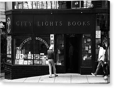 City Lights Bookstore - San Francisco Canvas Print by Aidan Moran