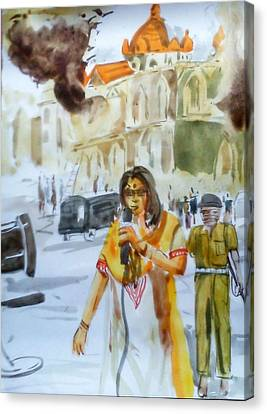 City Never Sleeps Canvas Print by Titli Sarkar