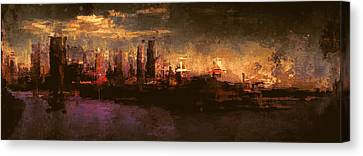 City On The Sea Canvas Print by Lonnie Christopher