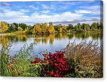 City Park Canvas Print by Keith Ducker