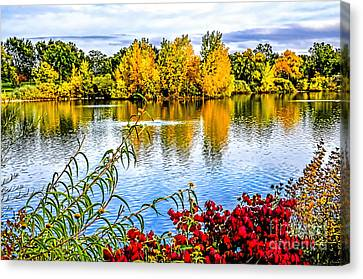 City Park Lake Canvas Print by Keith Ducker