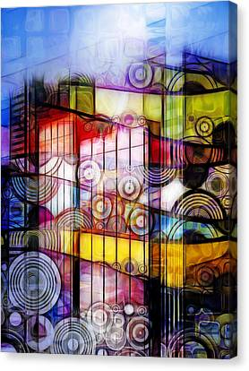 City Patterns 1 Canvas Print by Lutz Baar