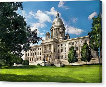 City - Providence Ri - The Capitol  Canvas Print by Mike Savad