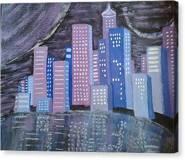 City Reflections Canvas Print by Erica  Darknell