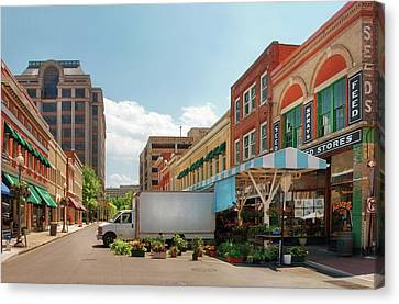 City - Roanoke Va - The City Market Canvas Print by Mike Savad