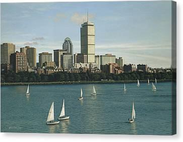 City View Sail Canvas Print by Julia O'Malley-Keyes