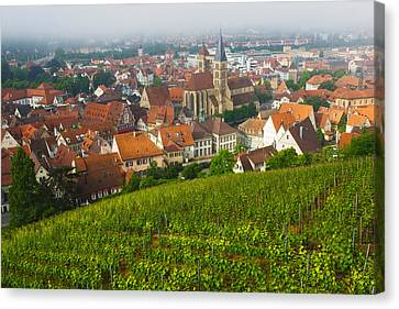City Viewed From Vineyard Canvas Print by Panoramic Images
