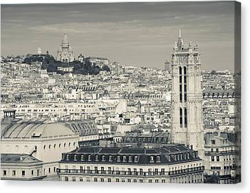 City With St. Jacques Tower Canvas Print by Panoramic Images