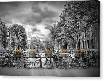 Cityscape Amsterdam Canvas Print by Melanie Viola
