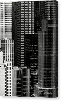 Cityscape In Black And White Canvas Print by Diane Diederich