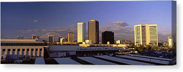 Cityscape Phoenix Az Canvas Print by Panoramic Images
