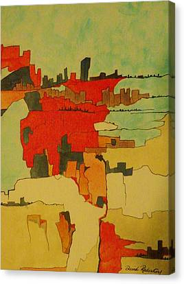 Cityscapes One Canvas Print by David Raderstorf