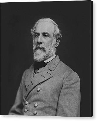 Civil War General Robert E Lee Canvas Print by War Is Hell Store