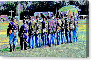 Civil War Platoon By Earl's Photography Canvas Print by Earl  Eells a