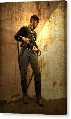Civil War Soldier Canvas Print by Thomas Woolworth