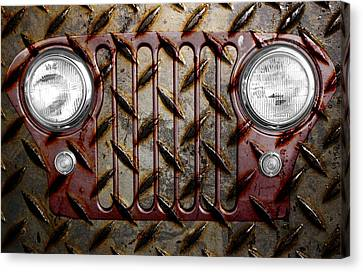 Civilian Jeep- Maroon Canvas Print by Luke Moore