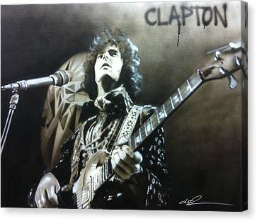 Eric Clapton - ' Clapton ' Canvas Print by Christian Chapman Art
