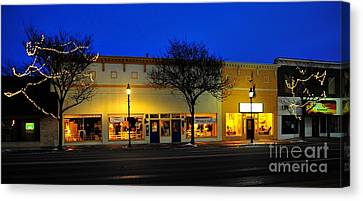 Clare Michigan At Christmas 11 Canvas Print by Terri Gostola