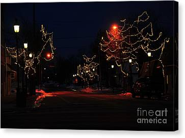 Clare Michigan At Christmas 12 Canvas Print by Terri Gostola