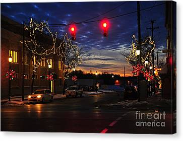 Clare Michigan At Christmas 5 Canvas Print by Terri Gostola
