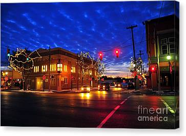 Clare Michigan At Christmas 6 Canvas Print by Terri Gostola