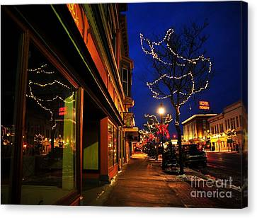Clare Michigan At Christmas 7 Canvas Print by Terri Gostola