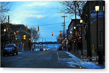 Clare Michigan At Christmas 8 Canvas Print by Terri Gostola
