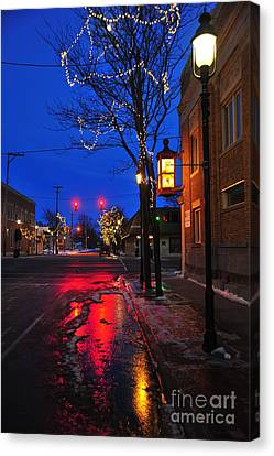 Clare Michigan At Christmas 9 Canvas Print by Terri Gostola